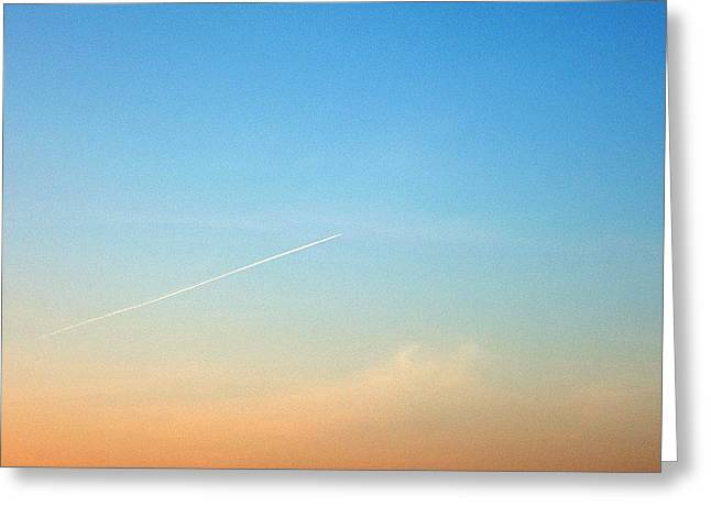 Jet To Sky Greeting Card
