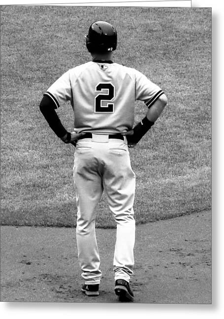 Jeter 2 Bw Edit Greeting Card by Stephen Melcher