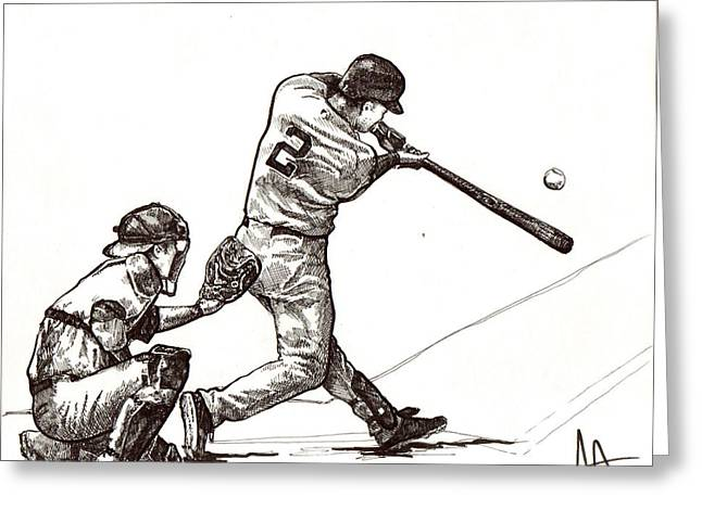 Jeter #2 Greeting Card by Joshua Sooter