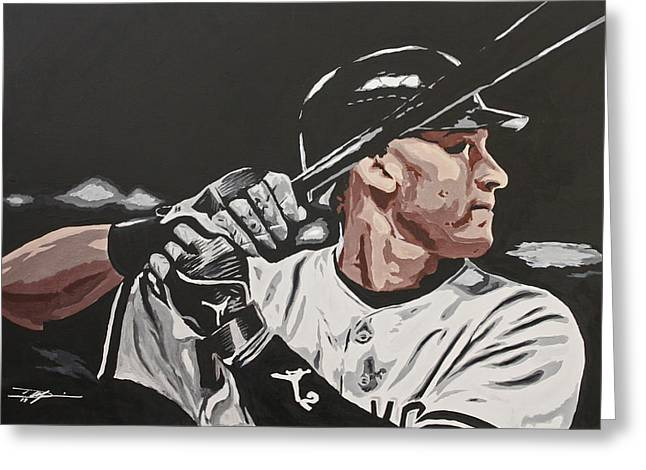 Jeter  Greeting Card by Don Medina