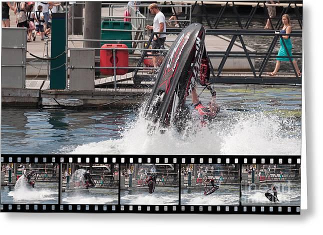 Jetski Stunt 1 Greeting Card by Steve Purnell