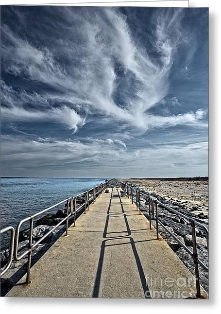 Jetty At Barnegat Lighthouse Greeting Card