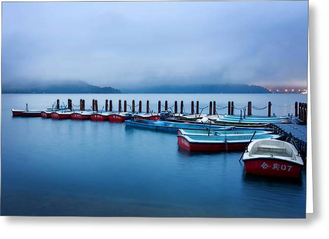 Jetty At Sun Moon Lake Greeting Card