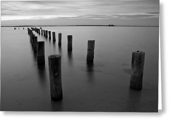 Jetty At Sunset Greeting Card