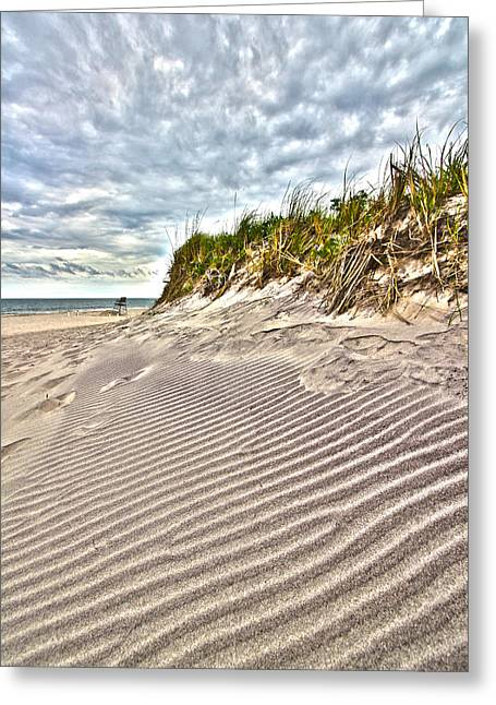 Jetty Four Dune Stripes Greeting Card