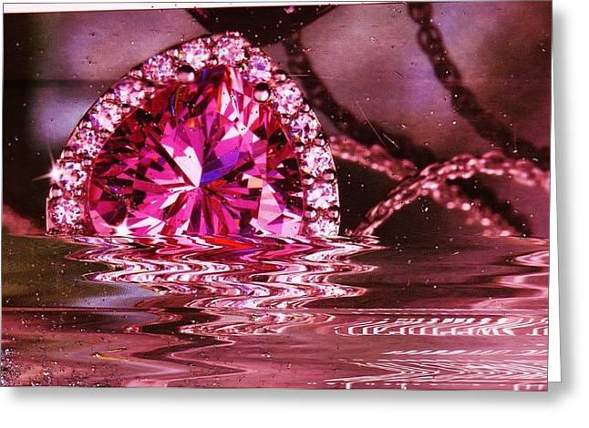 Jewel Bling Fling Collage Greeting Card