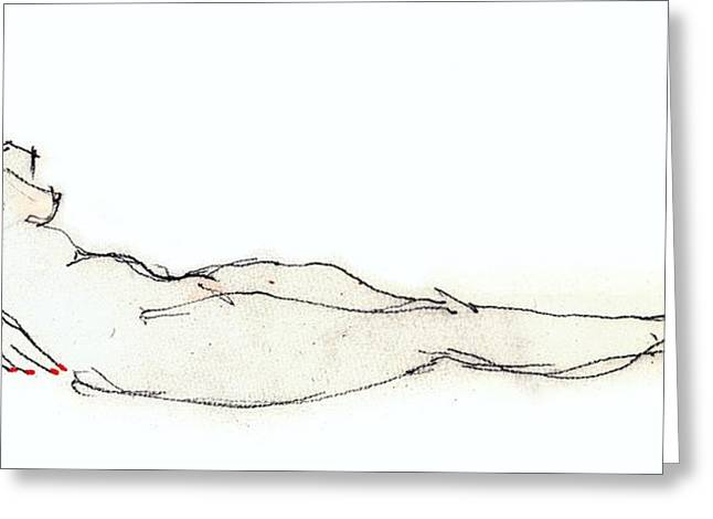 Jewel - Female Nude  Greeting Card