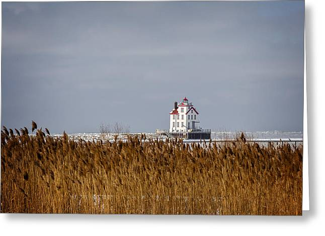 jewel of the Port Lorain Lighthouse Greeting Card