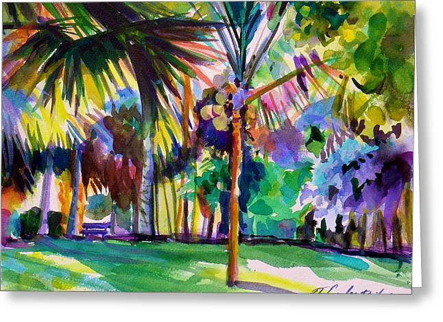 Jewel Tones From Hawaii Greeting Card by Therese Fowler-Bailey