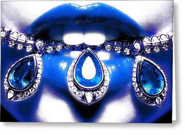 Jewelips Soft Blue Greeting Card