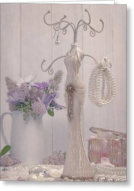 Jewellery And Pearls Greeting Card by Amanda Elwell