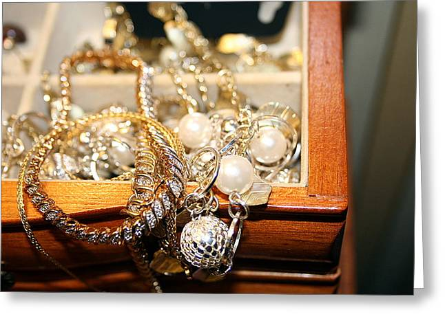 Greeting Card featuring the photograph Jewelry Collections by Ester  Rogers