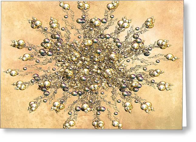 Jewels In The Sand Greeting Card by Georgiana Romanovna