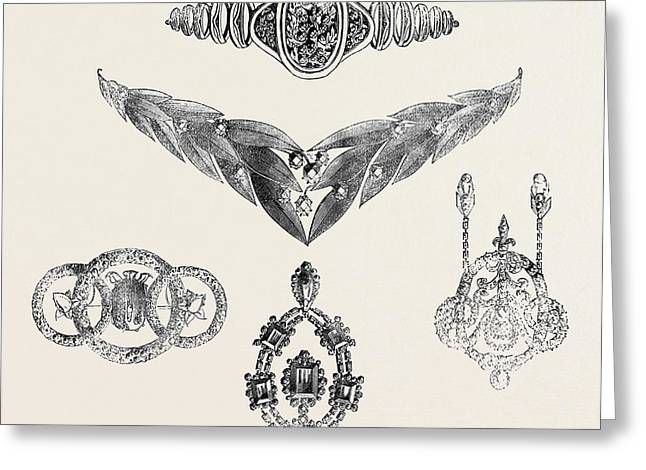Jewels Presented To Madame Grisi Greeting Card by English School