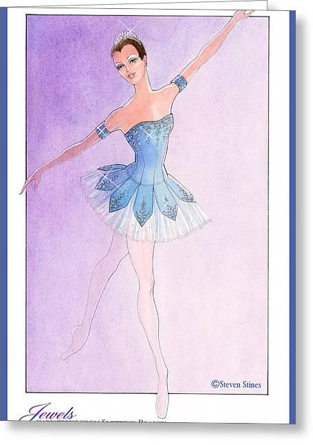 Jewels Tutu Blue Greeting Card