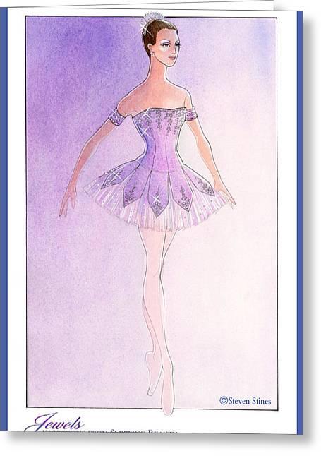 Jewels Tutu Purple Greeting Card