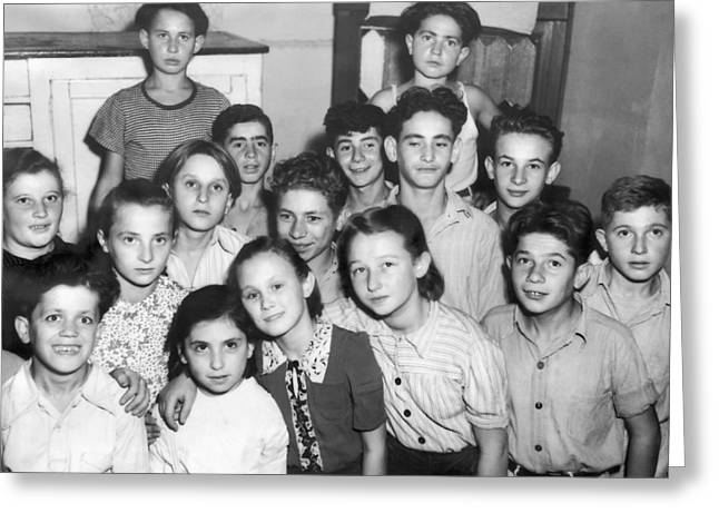 Jewish Wwii Orphans In Germany Greeting Card