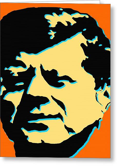 Politics Prints Digital Art Greeting Cards - JFK 3 - Kennedy Pop Art Greeting Card by Peter Fine Art Gallery  - Paintings Photos Digital Art