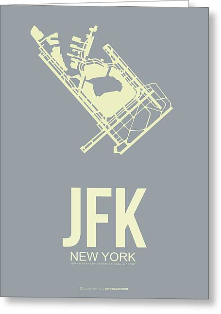 Jfk Airport Poster 1 Greeting Card by Naxart Studio