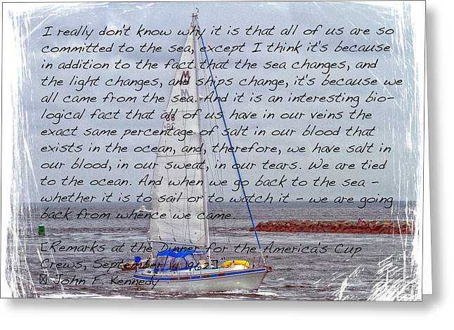 J F K And The Sea Greeting Card