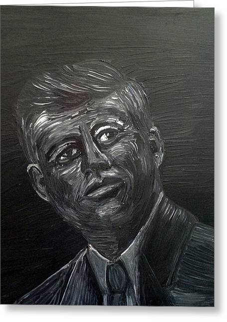 JFK Greeting Card by Deb Wolf