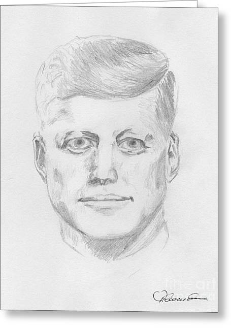 JFK Greeting Card by Torbjorn Swenelius