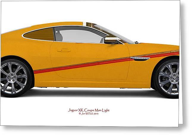 Jguar Xk Coupe Moen Light Greeting Card by Jan W Faul