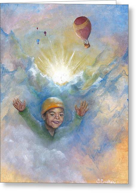 Jhonan And The Hot Air Balloons Greeting Card