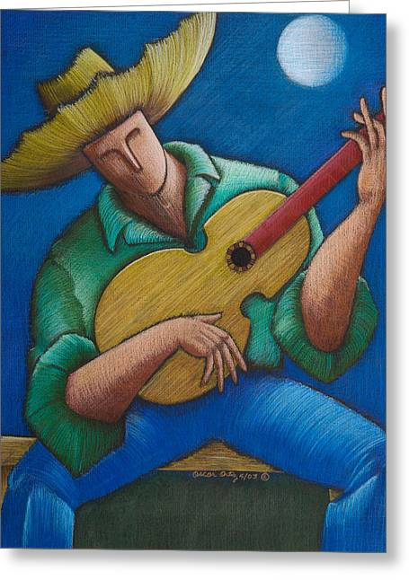 Jibaro Bajo La Luna Greeting Card