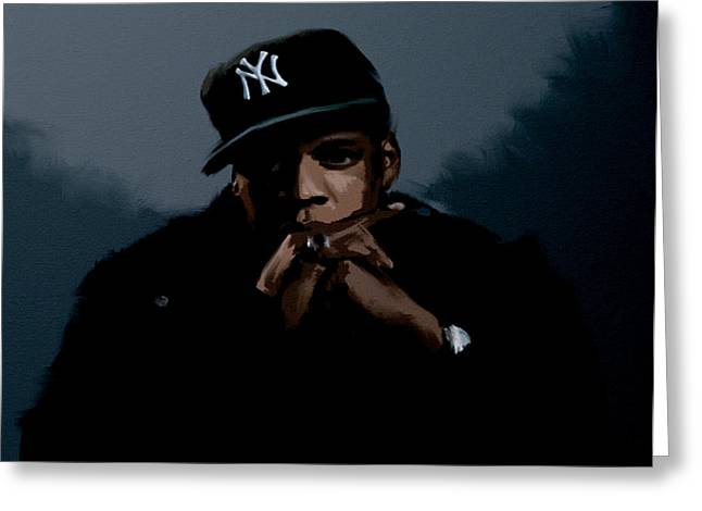 Jiggaman Jay Z Greeting Card by Brian Reaves