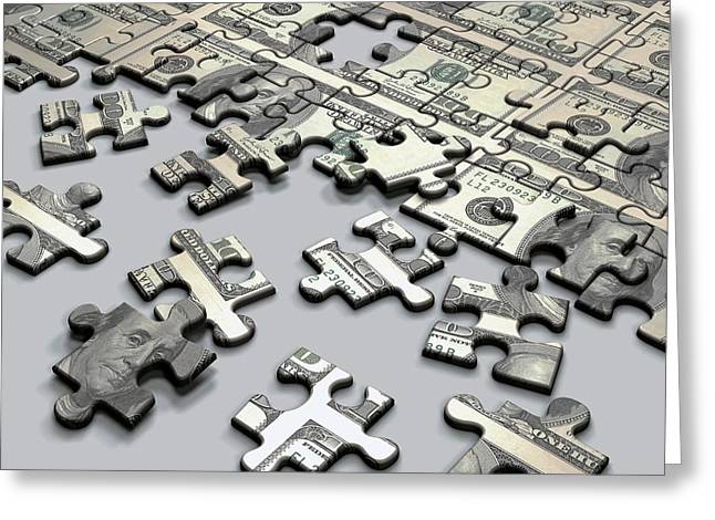 Jigsaw Puzzle Greeting Card by Ktsdesign/science Photo Library