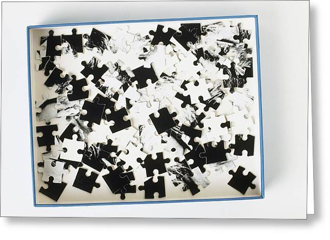 Jigsaw Puzzle Pieces Greeting Card