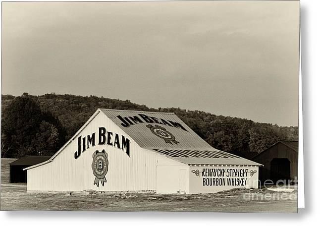 Jim Beam - D008291-bw Greeting Card by Daniel Dempster