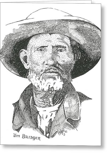 Jim Bridger Greeting Card by Clayton Cannaday