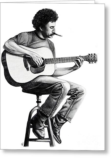 Greeting Card featuring the drawing Jim Croce by Danielle R T Haney