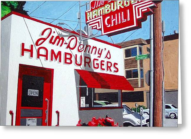 Jim-dennys No. 4 Greeting Card by Paul Guyer
