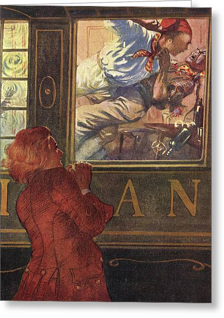 Jim Hawkins Sees Israel Hands  And Red Greeting Card by Mary Evans Picture Library