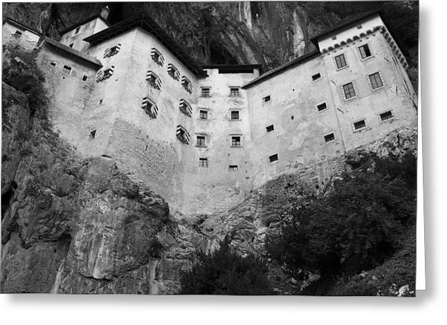 Jim Jam Predjama Castle Slovenia Greeting Card by Graham Hawcroft pixsellpix