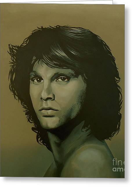 Jim Morrison Painting Greeting Card