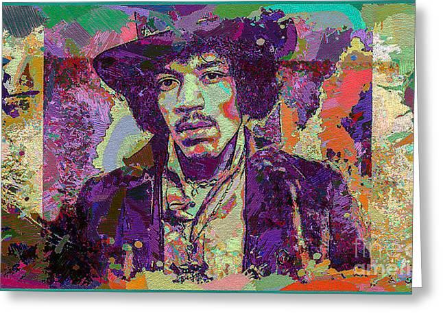 Jimi Hendrix Greeting Card by Eleni Mac Synodinos