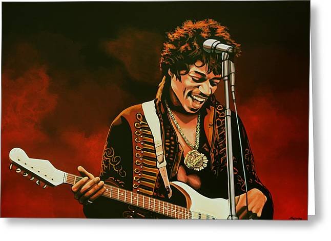 Jimi Hendrix Painting Greeting Card