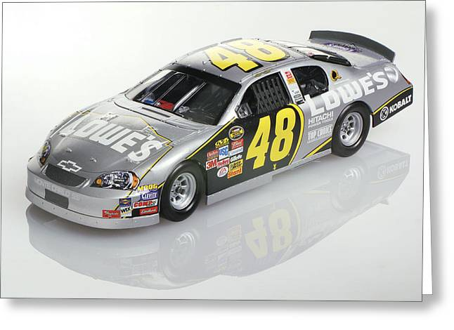Jimmie Johnson No 48 Greeting Card by Robert Mollett