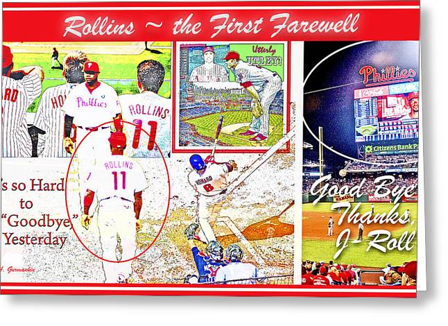 Jimmie Rollins Farewell Greeting Card