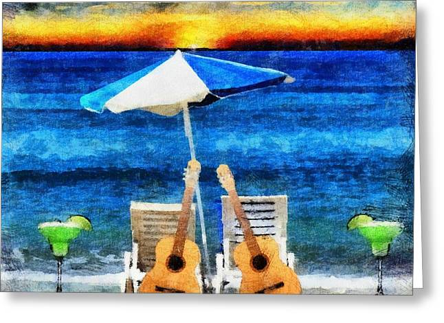 Jimmy Buffett Paradise Greeting Card