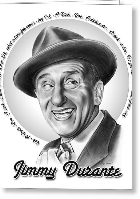 Jimmy Durante Greeting Card by Greg Joens