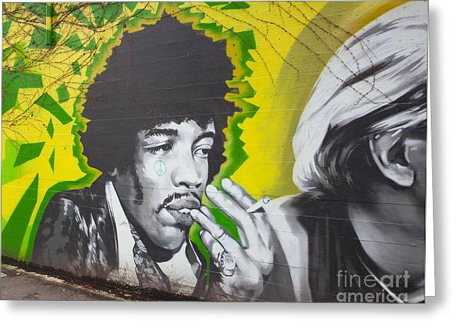 Jimmy Hendrix Mural Greeting Card