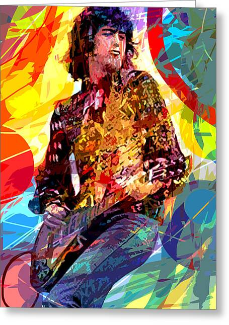 Jimmy Page Leds Lead Greeting Card by David Lloyd Glover