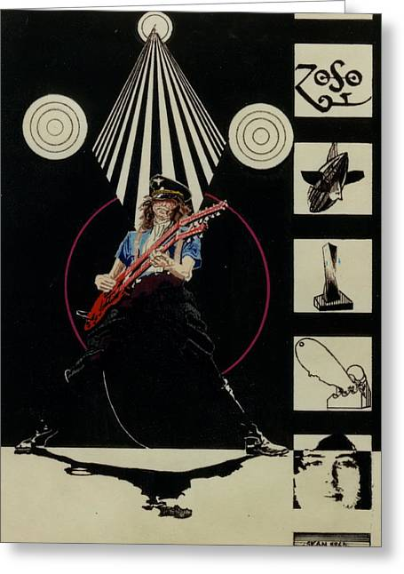 Jimmy Page Of Led Zeppelin Greeting Card