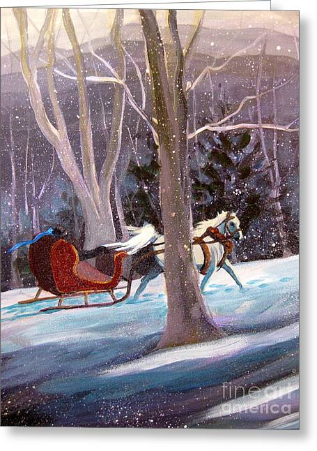 Jingle Bells A Greeting Card by Gretchen Allen