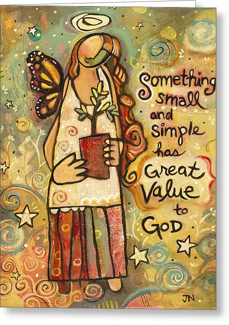 Someting Small Inspirational Art Greeting Card by Jen Norton